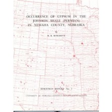 Occurrence of Gypsum in the Johnson Shale (Permian) in Nemaha County, Nebraska (RR-3)