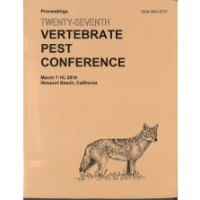Proceedings of the Twenty-Seventh Vertebrate Pest Conference (VPC-2016)