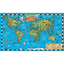Kid's World Map Interactive Wall Chart with Free App (WC04)