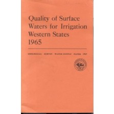 Quality of Surface Waters for Irrigation, Western States, 1969 (Part 6.  Missouri River Basin)