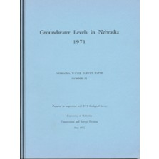 Groundwater Levels in Nebraska, 1971
