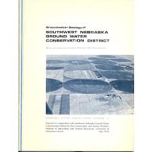 Groundwater Geology of Southwest Nebraska Ground Water Conservation District