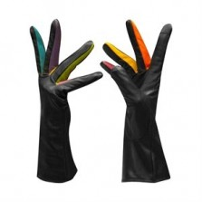 Black Brights Leather Gloves