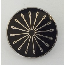 Black Needleburst Pin
