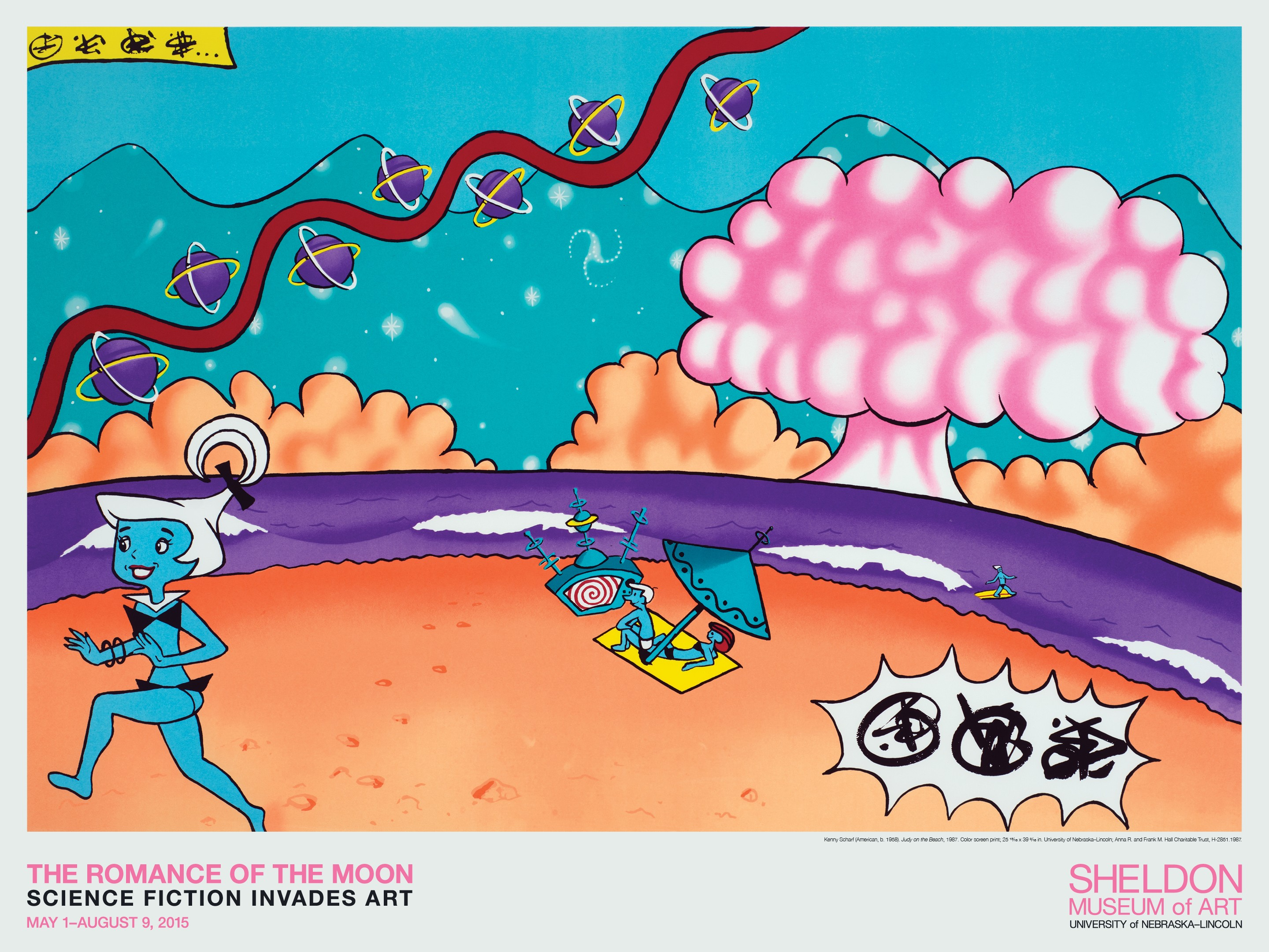'Judy of the Beach' by Kenny Scharf poster