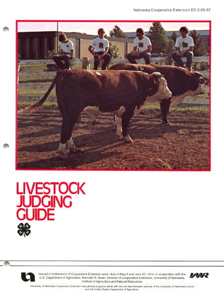 Livestock Judging Guide