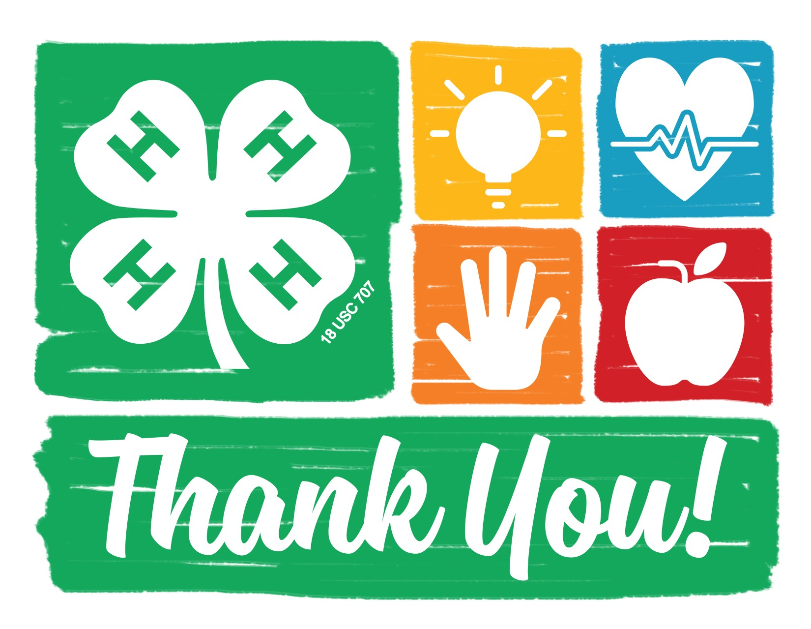 Nebraska 4-H Thank You Notecards