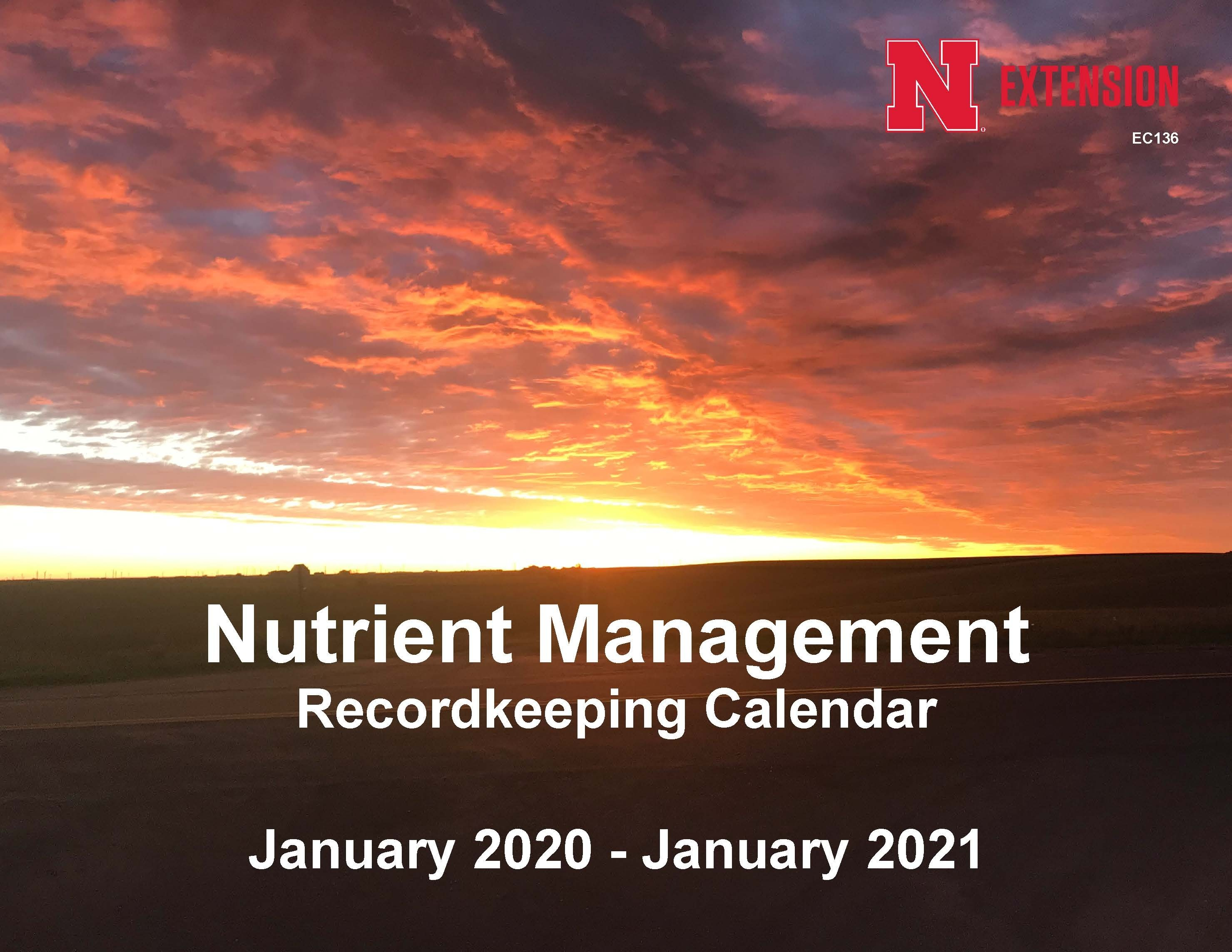 2020 Nutrient Management Calendar