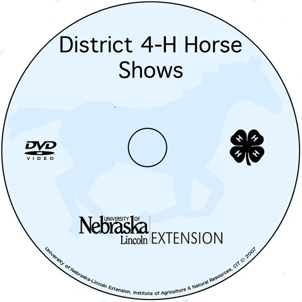 District Horse Show Process in Nebraska  [DVD]