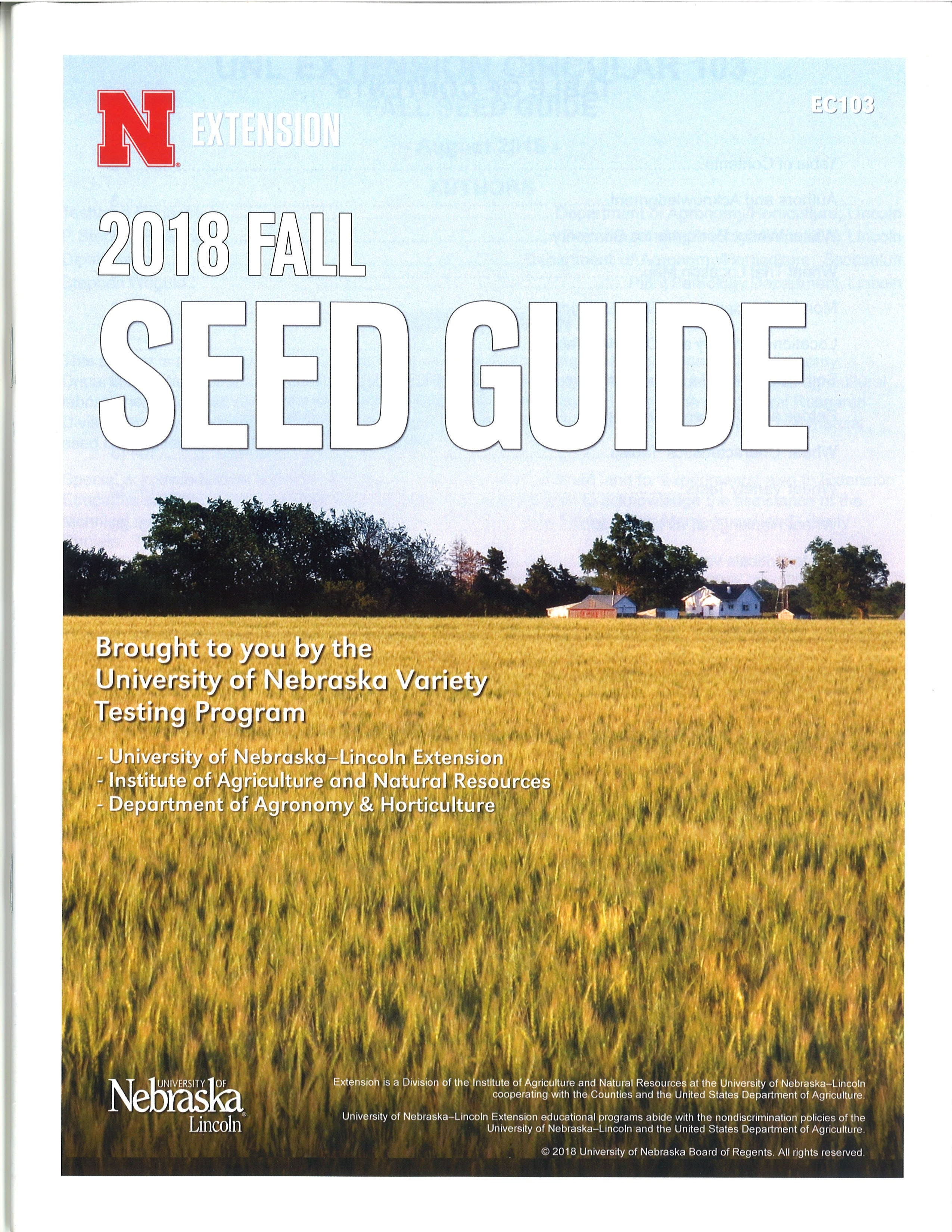 2018 Fall Seed Guide