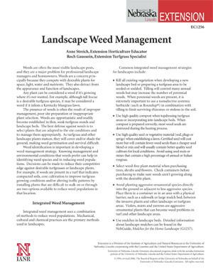 Landscape Weed Management
