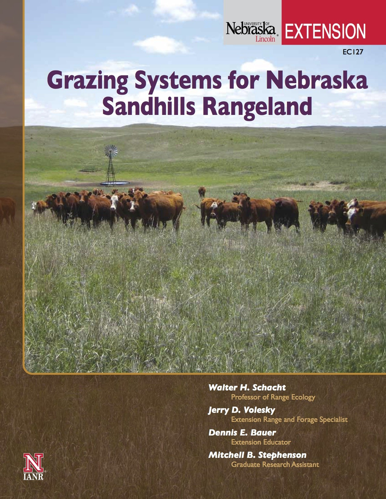 Grazing Systems for Nebraska Sandhills Rangeland