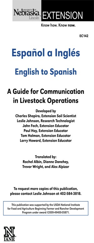 English to Spanish: A Guide for Communication in Livestock Operations