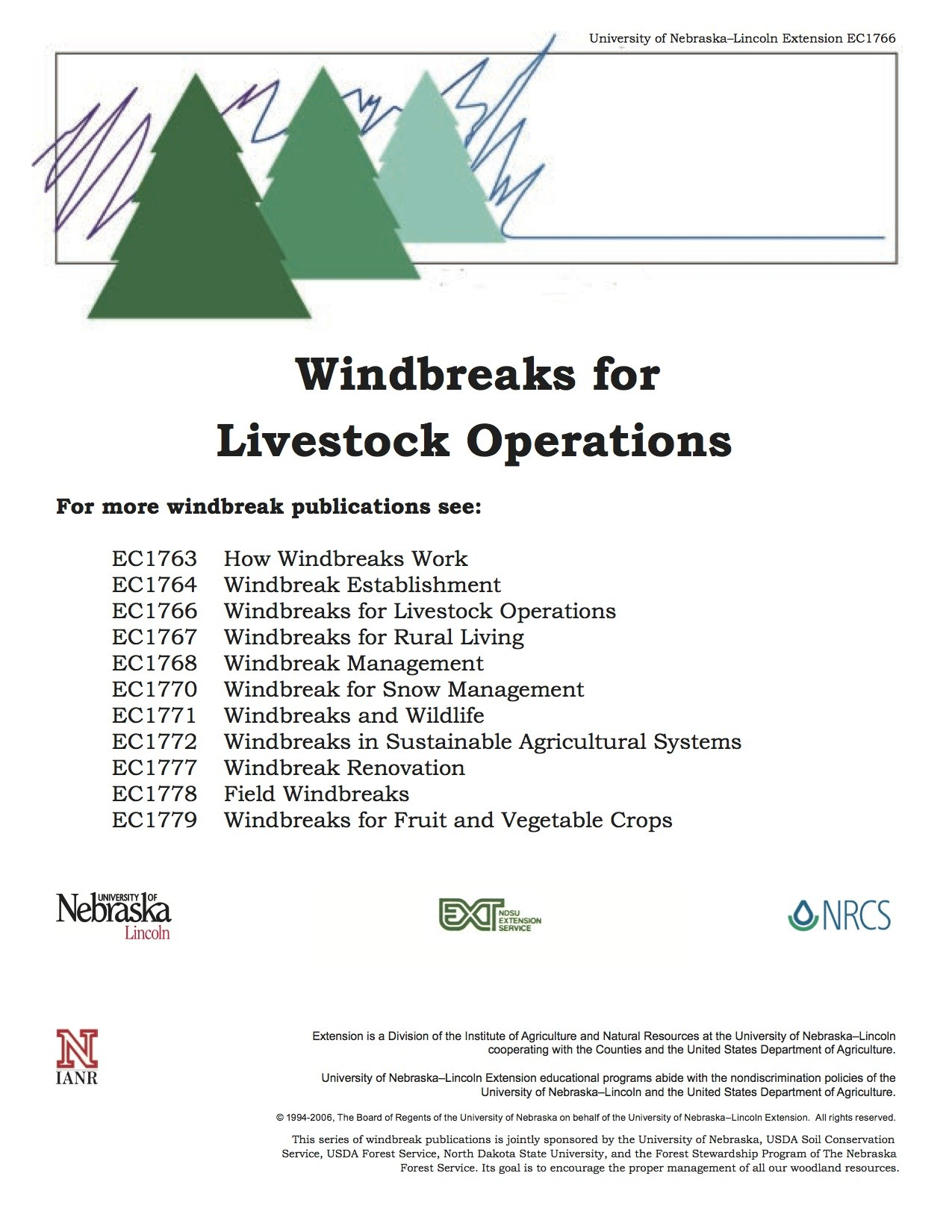 Windbreaks for Livestock Operations