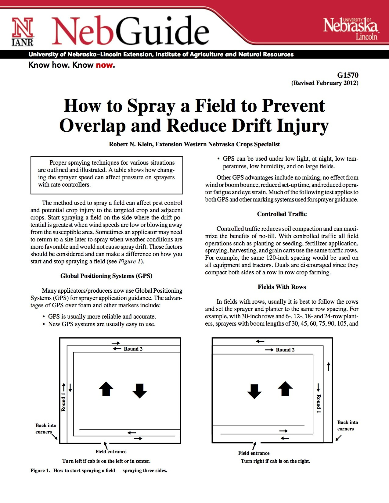 How to Spray a Field to Prevent Overlap