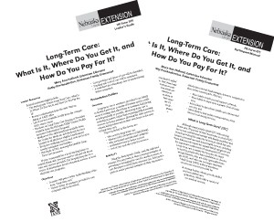 Long-Term Care: What is it, Where Do You Get It, and How Do you Pay for It?