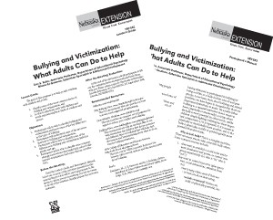 Bullying and Victimization: What Adults Can Do To Help