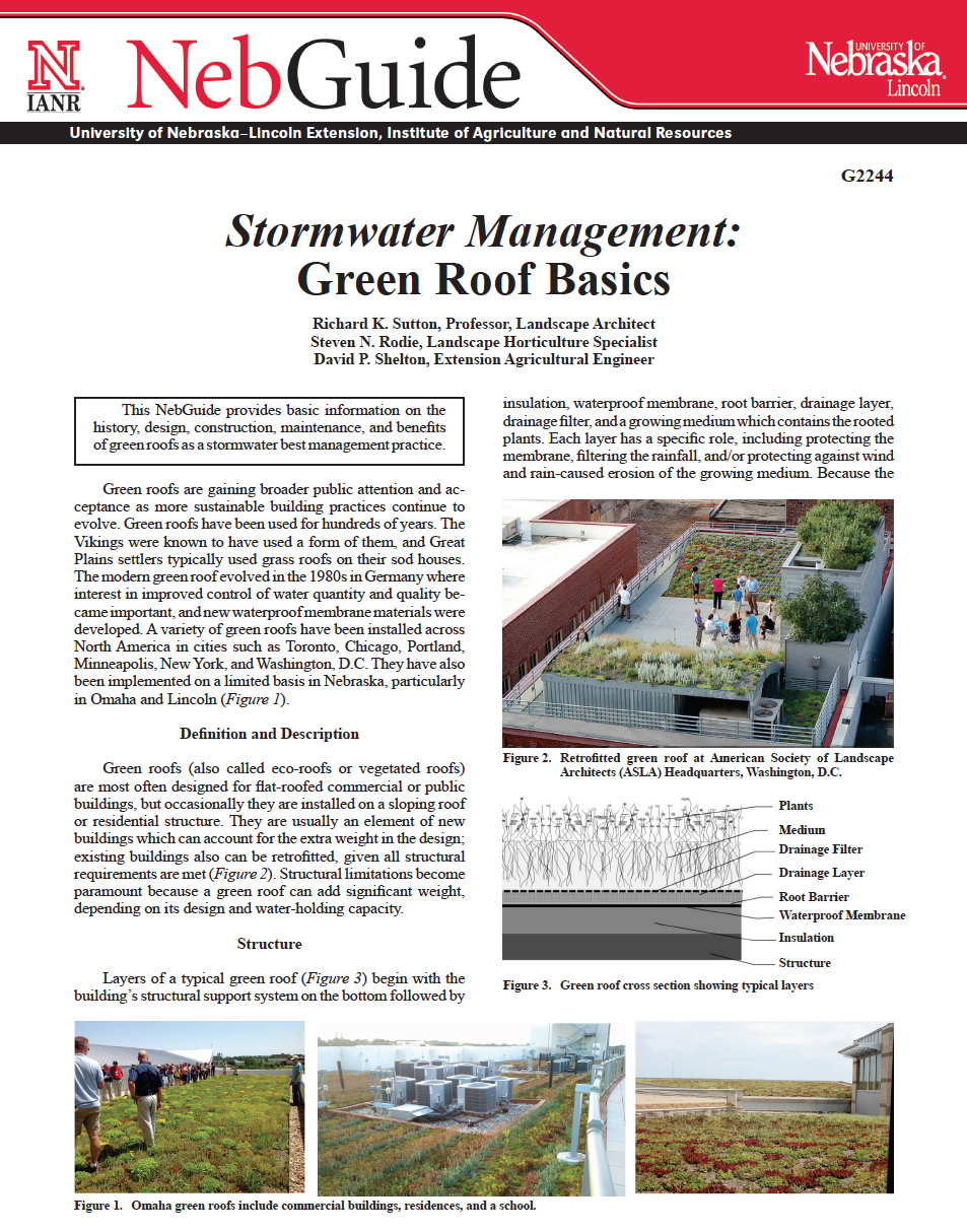 Stormwater Management: Green Roof Basics
