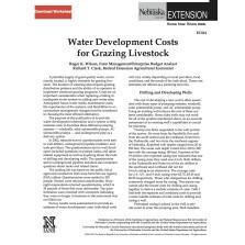 Water Development Costs for Livestock